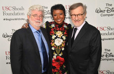 George Lucas, Mellody Hobson receive Ambassador for Humanity Award
