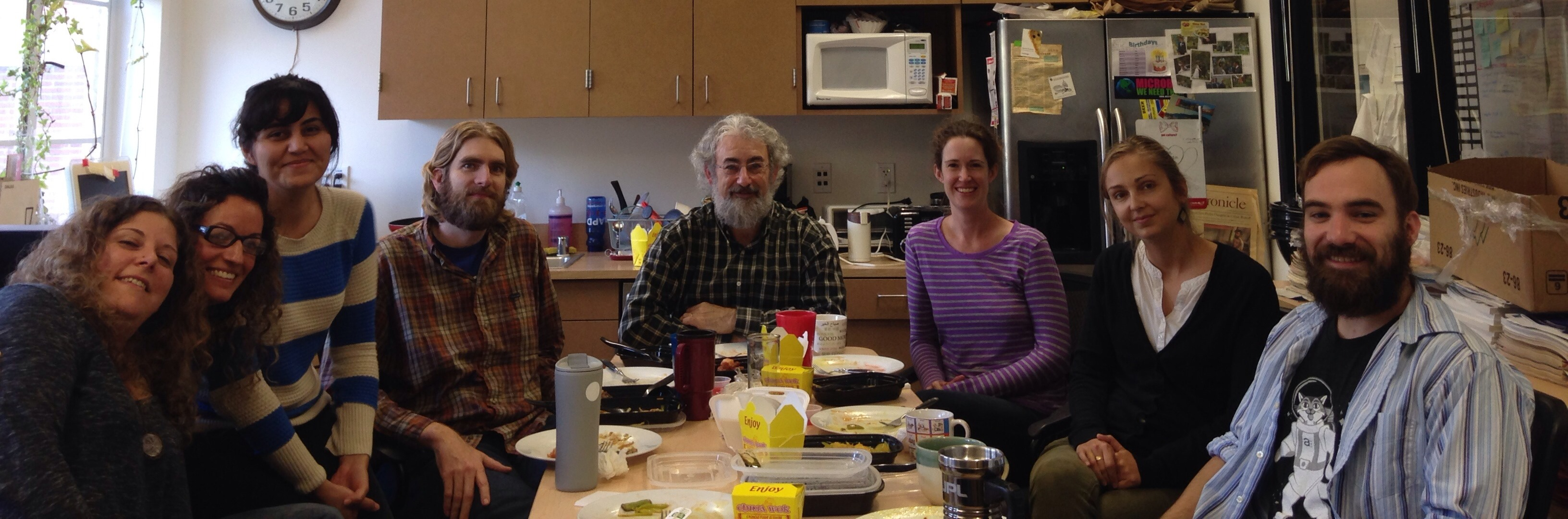 Typical lab meeting, Photo by David Needham, January 2015