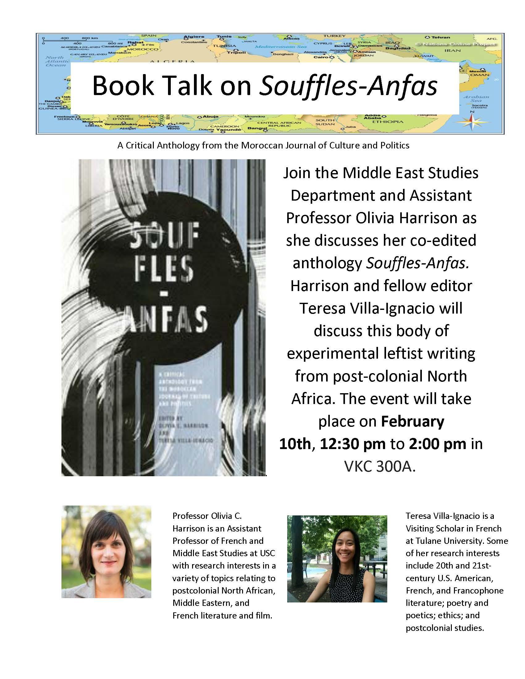 Book Talk: Souffles-Anfas